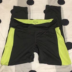 Pants - Grey neon green workout pants